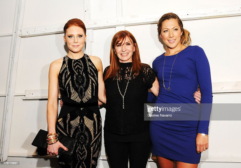 Actress Christiane Seidel, designer Nicole Miller and singer <a gi-track='captionPersonalityLinkClicked' href=/galleries/search?phrase=Colbie+Caillat&family=editorial&specificpeople=4410812 ng-click='$event.stopPropagation()'>Colbie Caillat</a> attend the Nicole Miller show during Spring 2014 Mercedes-Benz Fashion Week at The Studio at Lincoln Center on September 6, 2013 in New York City.