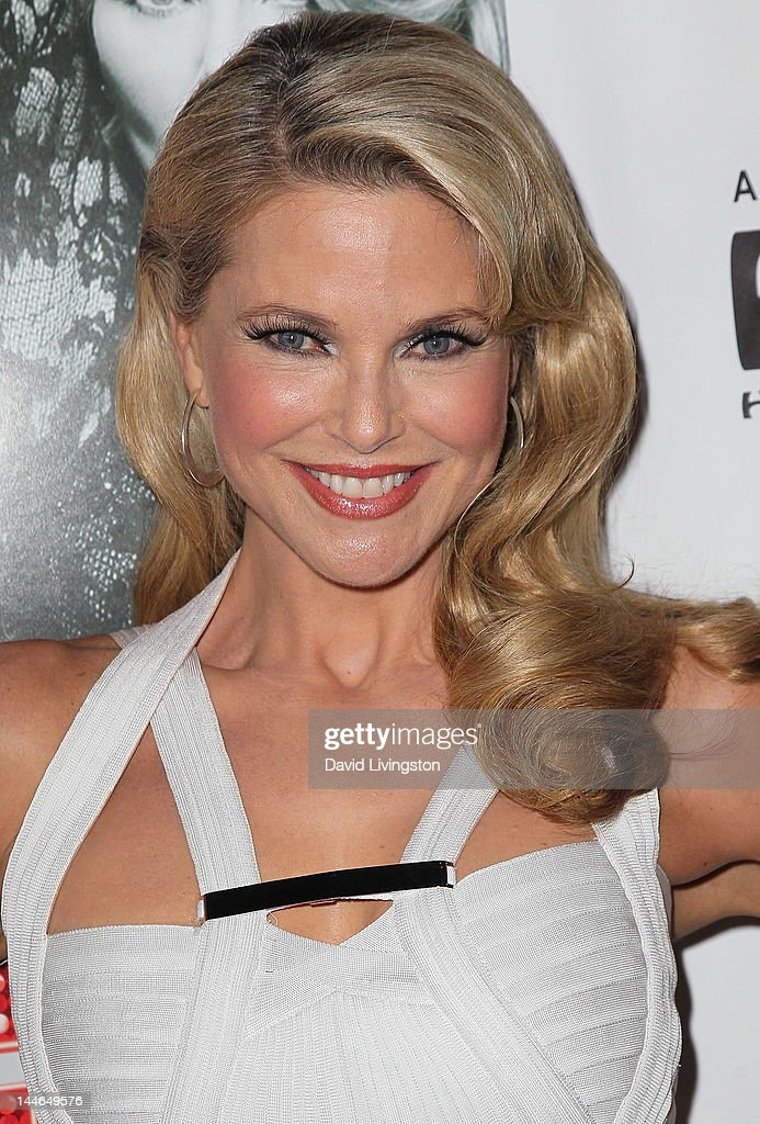Actress Christie Brinkley poses at the opening night of 'Chicago' at the Pantages Theatre on May 16, 2012 in Hollywood, California.