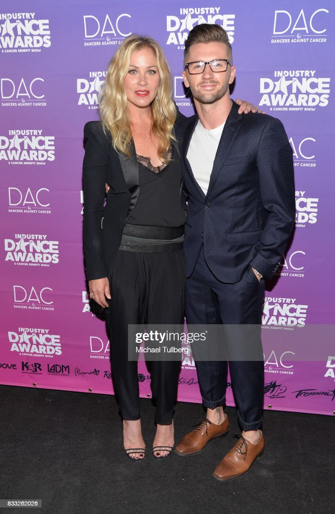 Actress Christina Applegate and Travis Wall attend the 2017 Industry Dance Awards and Cancer Benefit Show at Avalon on August 16, 2017 in Hollywood, California.