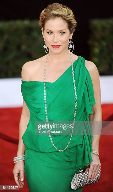 Actress Christina Applegate arrives at the 15th Annual Screen Actors Guild Awards at the Shrine Auditorium in Los Angeles California on January 25...