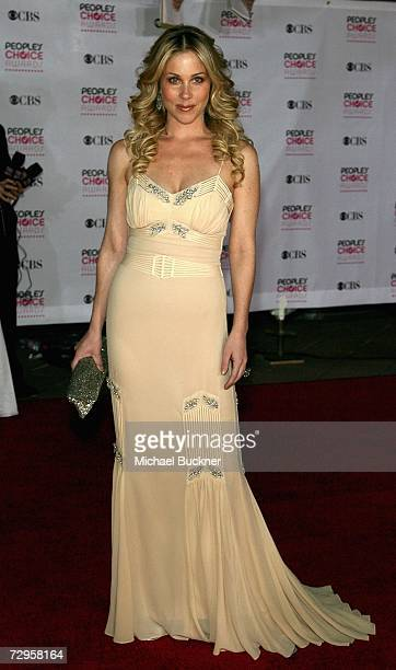 Actress Christina Applegate arrives at the 33rd Annual People's Choice Awards held at the Shrine Auditorium on January 9 2007 in Los Angeles...