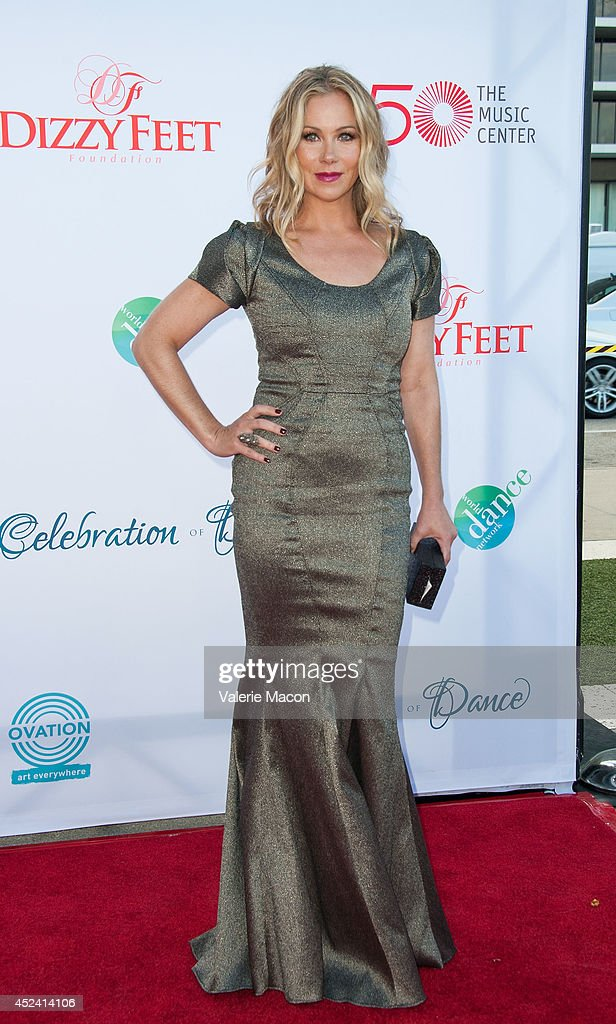 Actress <a gi-track='captionPersonalityLinkClicked' href=/galleries/search?phrase=Christina+Applegate&family=editorial&specificpeople=171273 ng-click='$event.stopPropagation()'>Christina Applegate</a> arrives at the 4th Annual Celebration Of Dance Gala Presented By The Dizzy Feet Foundation at Dorothy Chandler Pavilion on July 19, 2014 in Los Angeles, California.