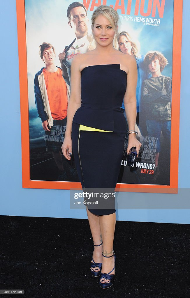 Actress Christina Applegate arrives at the Los Angeles Premiere 'Vacation' at Regency Village Theatre on July 27 2015 in Westwood California