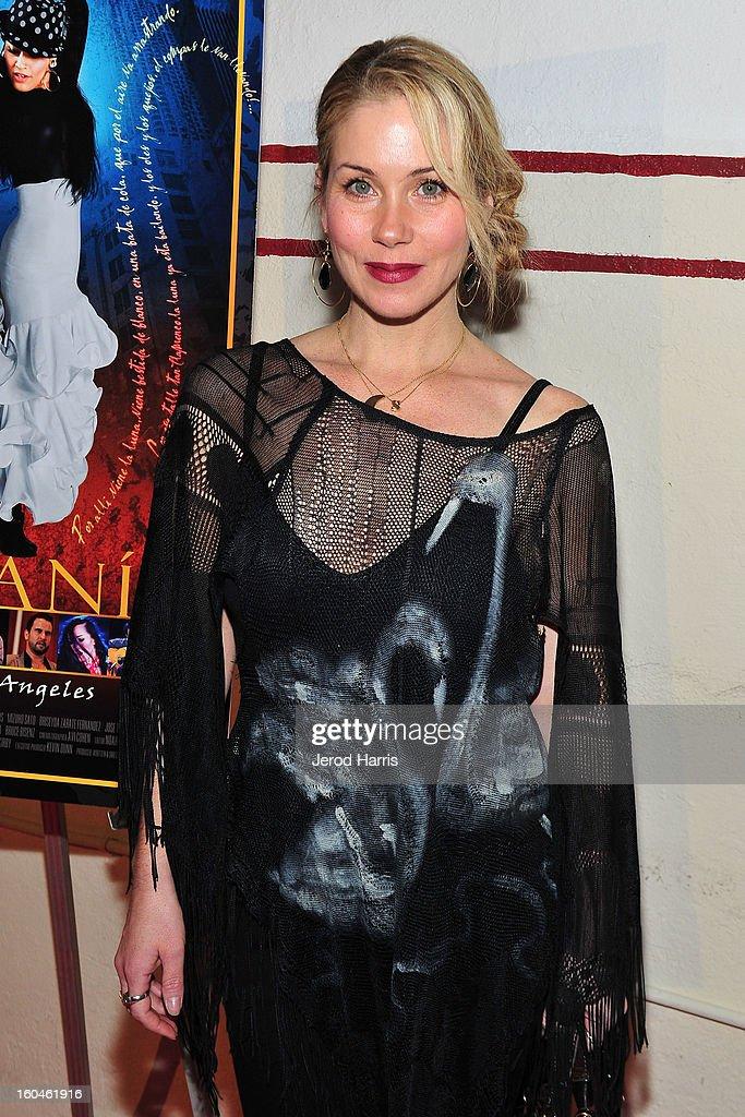 Actress Christina Applegate arrives at the premiere of 'Kumpania: Flemenco Los Angeles' at El Cid on January 31, 2013 in Los Angeles, California.