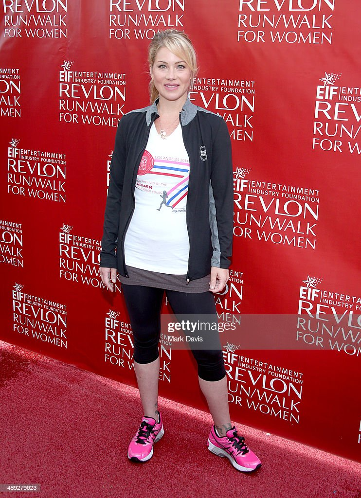 Actress <a gi-track='captionPersonalityLinkClicked' href=/galleries/search?phrase=Christina+Applegate&family=editorial&specificpeople=171273 ng-click='$event.stopPropagation()'>Christina Applegate</a> attends the 21st Annual EIF Revlon Run Walk For Women at Los Angeles Memorial Coliseum on May 10, 2014 in Los Angeles, California.