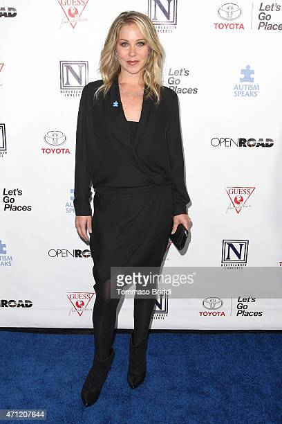 Actress Christina Applegate attends the 3rd Light Up The Blues Concert to benefit Autism Speaks held at the Pantages Theatre on April 25 2015 in...