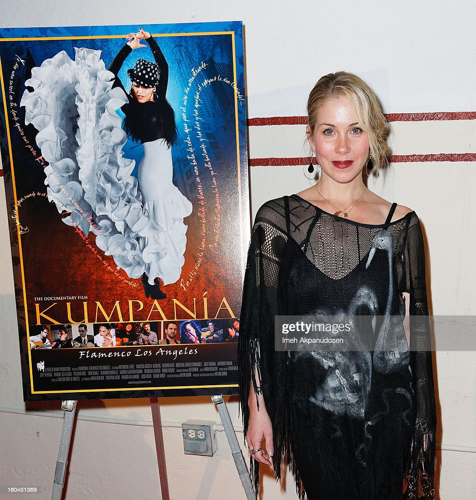 Actress Christina Applegate attends the premiere of 'Kumpania Flamenco Los Angeles' at El Cid on January 31, 2013 in Los Angeles, California.
