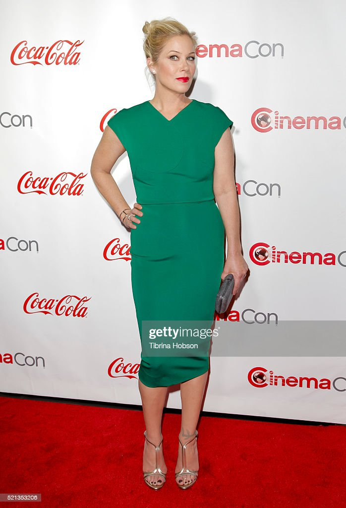 Actress Christina Applegate one of the recipients of the Female Stars of the Year Award attends the CinemaCon Big Screen Achievement Awards brought...