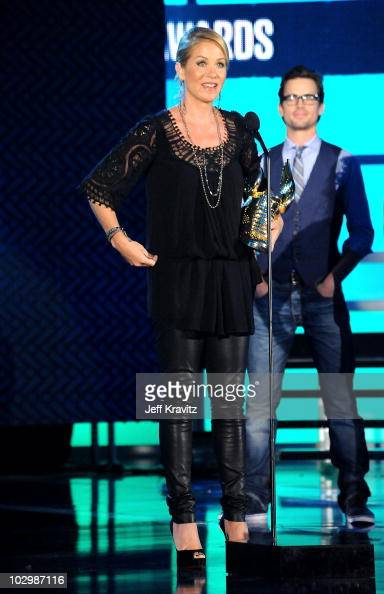Actress Christina Applegate speaks onstage at the 2010 VH1 Do Something Awards held at the Hollywood Palladium on July 19 2010 in Hollywood California