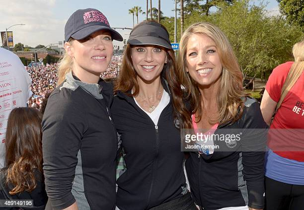 Actress Christina Applegate TV host Samantha Harris and Denise Austin attends the 21st Annual EIF Revlon Run Walk For Women on May 10 2014 in Los...