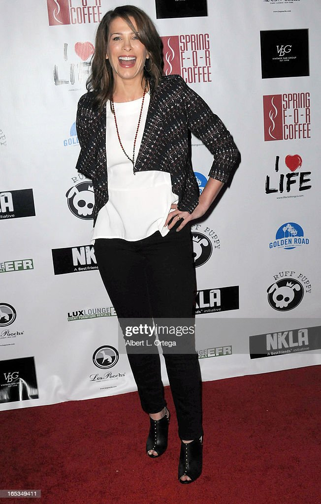 Actress Christina Cox arrives for the No Kill LA Charity Event held at Fred Segal on April 2, 2013 in West Hollywood, California.