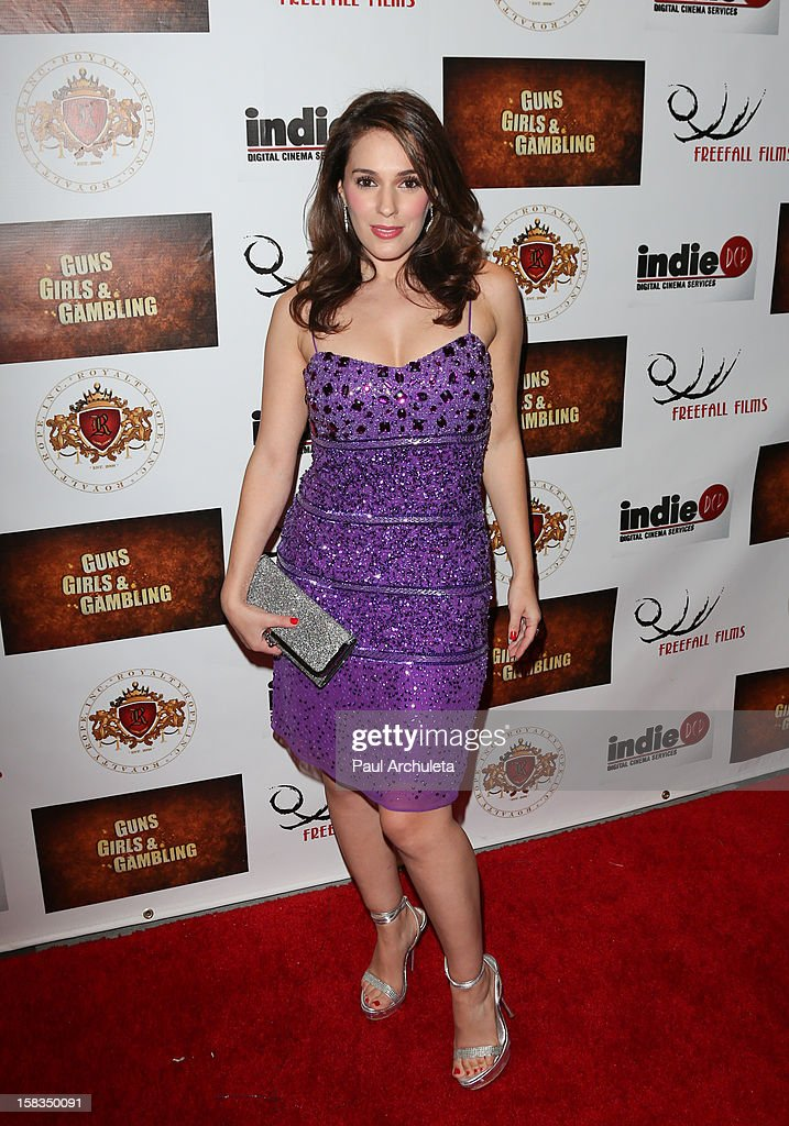 Actress Christina DeRosa attends the 'Guns, Girls & Gambling' screening at the Laemmle NoHo 7 on December 13, 2012 in North Hollywood, California.