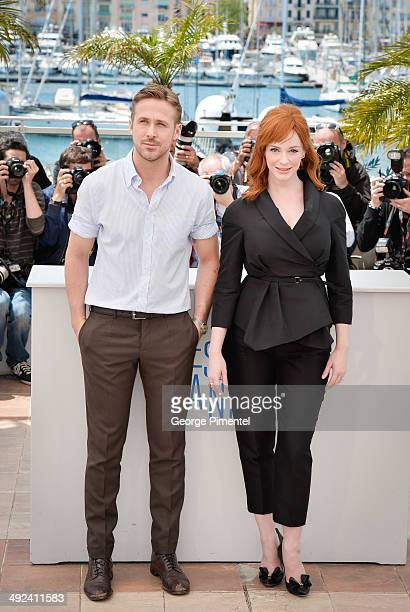 Actress Christina Hendricks and director Ryan Gosling attend the 'Lost River' photocall during the 67th Annual Cannes Film Festival on May 20 2014 in...