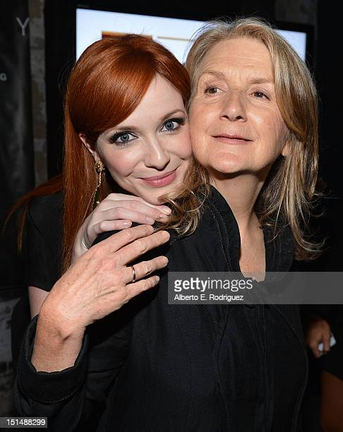 Actress Christina Hendricks and Filmmaker Sally Potter attend the 'Ginger Rosa' post premiere reception during 2012 Toronto International Film...