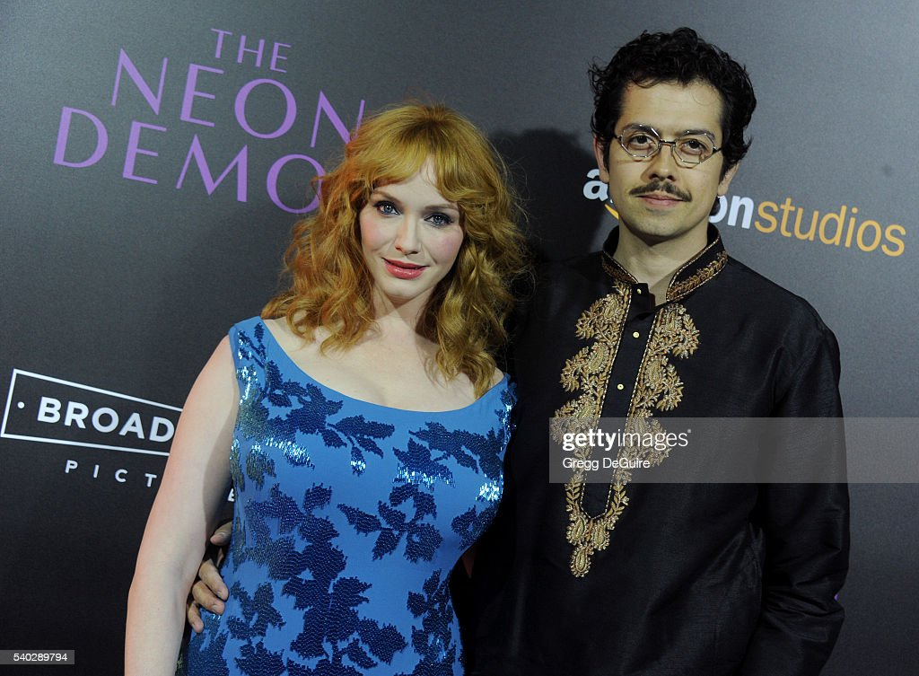 Actress Christina Hendricks and husband Geoffrey Arend arrive at the premiere of Amazon's 'The Neon Demon' at ArcLight Cinemas Cinerama Dome on June 14, 2016 in Hollywood, California.