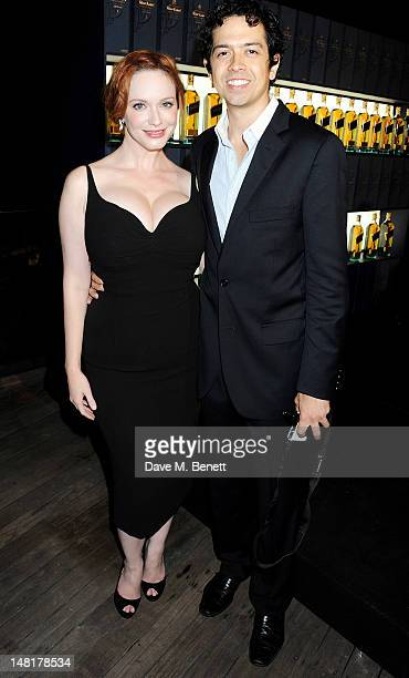 Actress Christina Hendricks and husband Geoffrey Arend attend the Johnnie Walker Blue Label Ultimate Game Changer Experience during the Diageo...