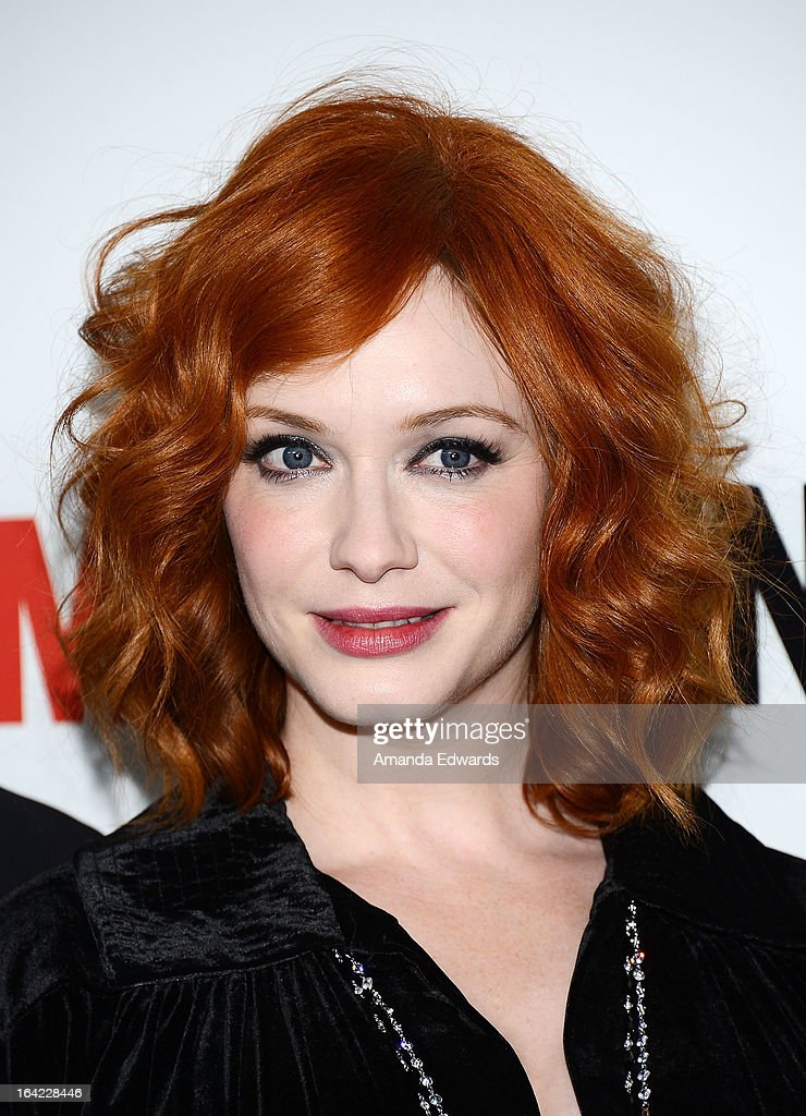 Actress <a gi-track='captionPersonalityLinkClicked' href=/galleries/search?phrase=Christina+Hendricks&family=editorial&specificpeople=2239736 ng-click='$event.stopPropagation()'>Christina Hendricks</a> arrives at AMC's 'Mad Men' Season 6 Premiere at the DGA Theater on March 20, 2013 in Los Angeles, California.