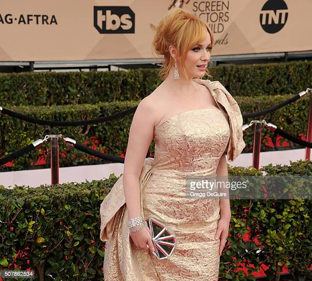 Actress Christina Hendricks arrives at the 22nd Annual Screen Actors Guild Awards at The Shrine Auditorium on January 30 2016 in Los Angeles...
