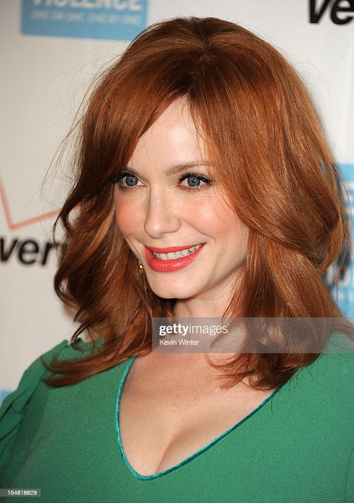 Actress <a gi-track='captionPersonalityLinkClicked' href=/galleries/search?phrase=Christina+Hendricks&family=editorial&specificpeople=2239736 ng-click='$event.stopPropagation()'>Christina Hendricks</a> arrives at the 41st Annual Peace Over Violence Humanitarian Awards at the Beverly Hills Hotel on October 26, 2012 in Beverly Hills, California.