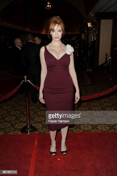 Actress Christina Hendricks arrives at the 62nd Annual Directors Guild Of America Awards at the Hyatt Regency Century Plaza on January 30 2010 in...
