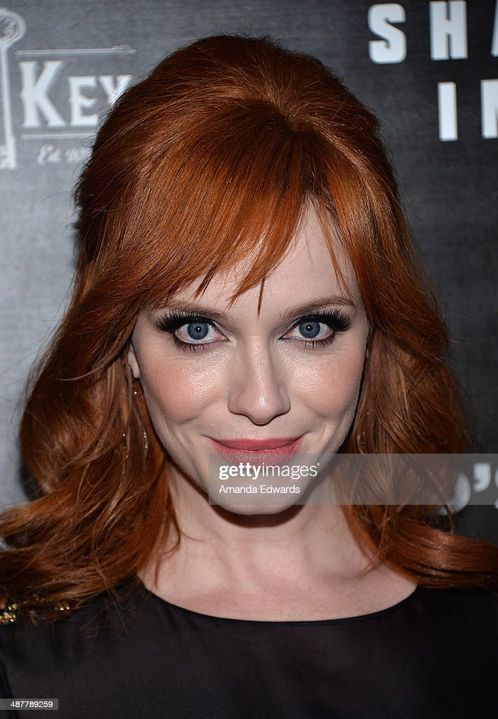 Actress <a gi-track='captionPersonalityLinkClicked' href=/galleries/search?phrase=Christina+Hendricks&family=editorial&specificpeople=2239736 ng-click='$event.stopPropagation()'>Christina Hendricks</a> arrives at the Film Independent at LACMA screening and Q&A of 'God's Pocket' at the Bing Theatre at LACMA on May 1, 2014 in Los Angeles, California.