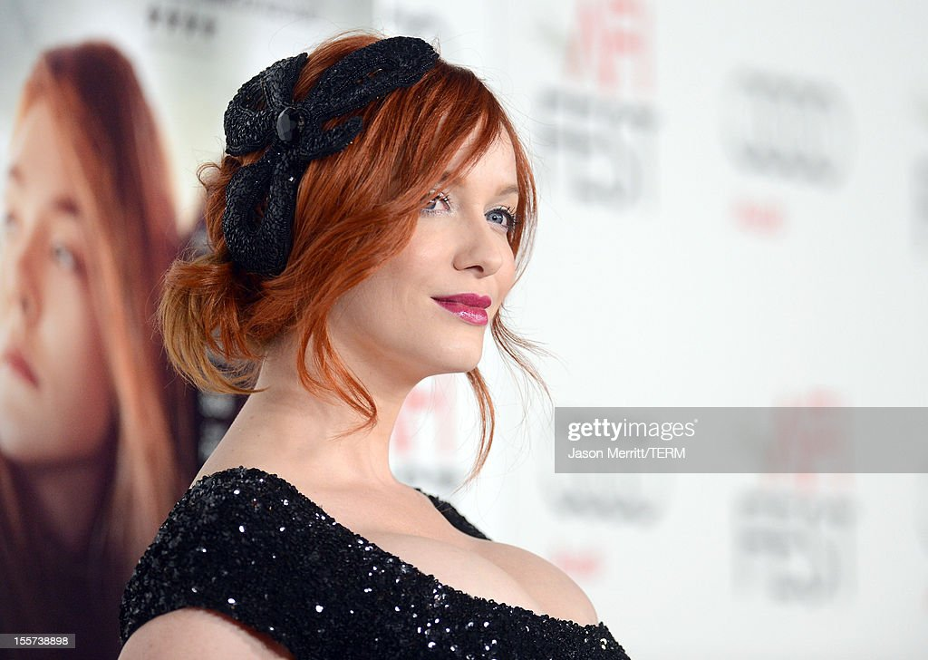 Actress <a gi-track='captionPersonalityLinkClicked' href=/galleries/search?phrase=Christina+Hendricks&family=editorial&specificpeople=2239736 ng-click='$event.stopPropagation()'>Christina Hendricks</a> arrives at the 'Ginger And Rosa' special screening during AFI Fest 2012 presented by Audi at Grauman's Chinese Theatre on November 7, 2012 in Hollywood, California.