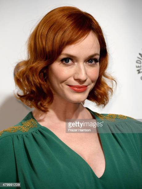 Actress Christina Hendricks arrives at The Paley Center For Media's PaleyFest 2014 Honoring 'Mad Men' at Dolby Theatre on March 21 2014 in Hollywood...