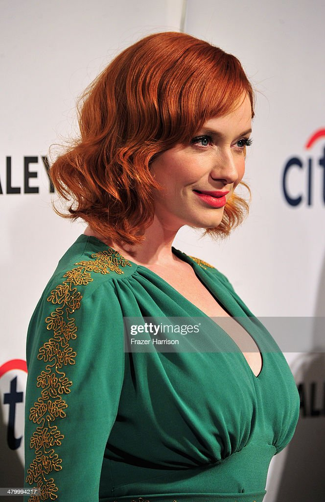 Actress Christina Hendricks arrives at The Paley Center For Media's PaleyFest 2014 Honoring 'Mad Men' at Dolby Theatre on March 21, 2014 in Hollywood, California.