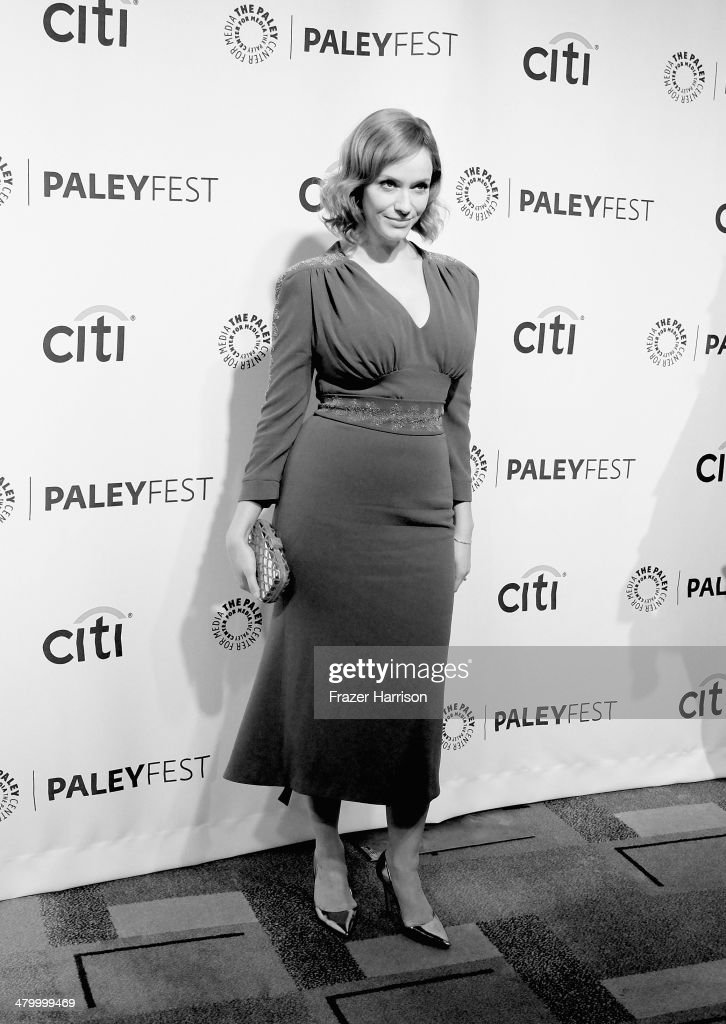 .Actress <a gi-track='captionPersonalityLinkClicked' href=/galleries/search?phrase=Christina+Hendricks&family=editorial&specificpeople=2239736 ng-click='$event.stopPropagation()'>Christina Hendricks</a> arrives at The Paley Center For Media's PaleyFest 2014 Honoring 'Mad Men' at Dolby Theatre on March 21, 2014 in Hollywood, California.