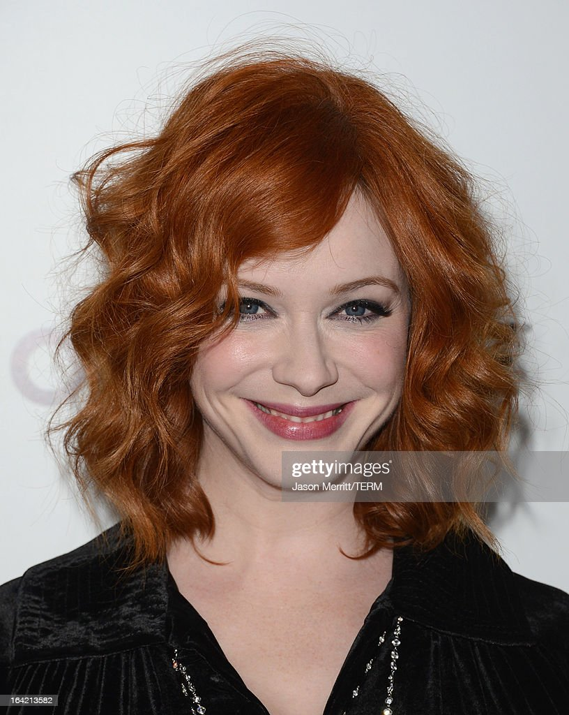 Actress <a gi-track='captionPersonalityLinkClicked' href=/galleries/search?phrase=Christina+Hendricks&family=editorial&specificpeople=2239736 ng-click='$event.stopPropagation()'>Christina Hendricks</a> arrives at the Premiere of AMC's 'Mad Men' Season 6 at DGA Theater on March 20, 2013 in Los Angeles, California.