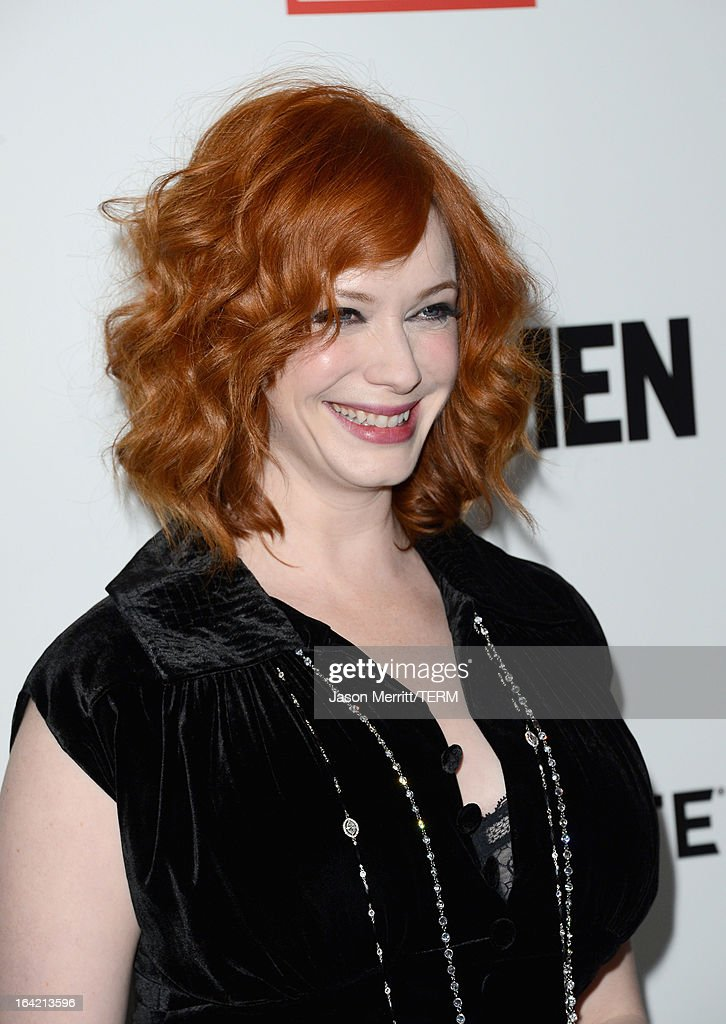 Actress Christina Hendricks arrives at the Premiere of AMC's 'Mad Men' Season 6 at DGA Theater on March 20, 2013 in Los Angeles, California.