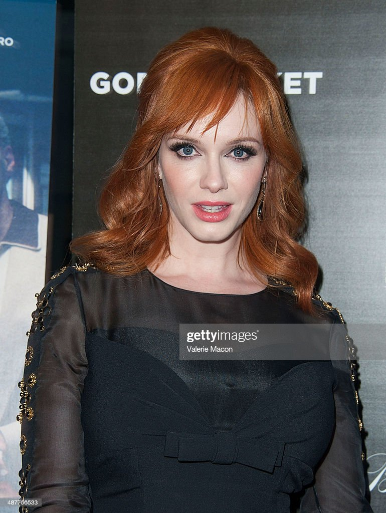 Actress Christina Hendricks arrives at the Premiere Of IFC Films' 'God's Pocket' at LACMA on May 1, 2014 in Los Angeles, California.
