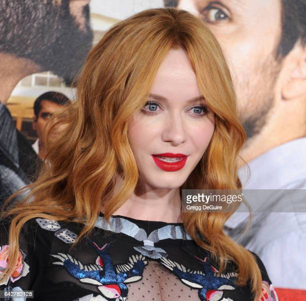 Actress Christina Hendricks arrives at the premiere of Warner Bros Pictures' 'Fist Fight' at Regency Village Theatre on February 13 2017 in Westwood...