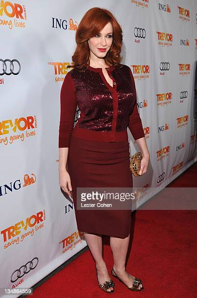 Actress Christina Hendricks arrives at The Trevor Project's 2011 Trevor Live held at The Hollywood Palladium on December 4 2011 in Los Angeles...