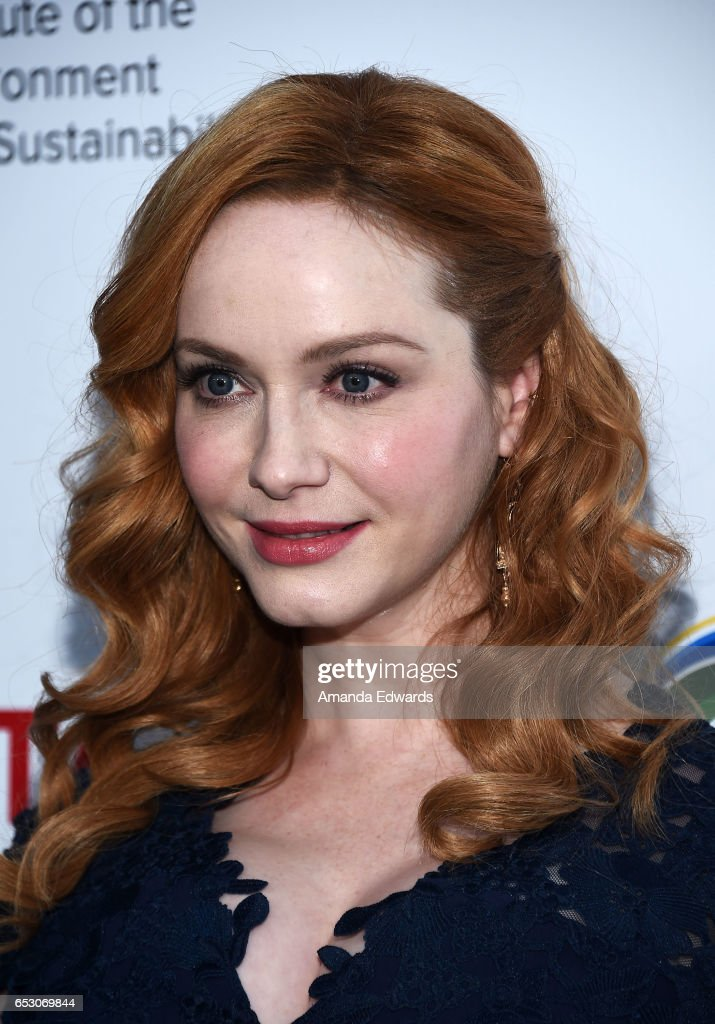 Actress Christina Hendricks arrives at the UCLA Institute of the Environment and Sustainability Innovators for a Healthy Planet celebration on March 13, 2017 in Beverly Hills, California.