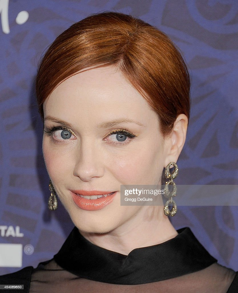 Actress Christina Hendricks arrives at the Variety And Women In Film Annual Pre-Emmy Celebration at Gracias Madre on August 23, 2014 in West Hollywood, California.