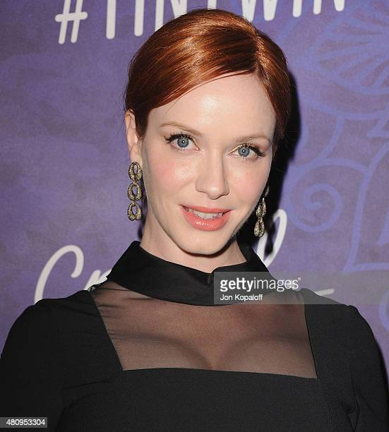 Actress Christina Hendricks arrives at Variety And Women In Film Annual PreEmmy Celebration at Gracias Madre on August 23 2014 in West Hollywood...