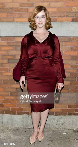 Christina hendricks red dress stock photos and pictures for Hendricks mercedes benz