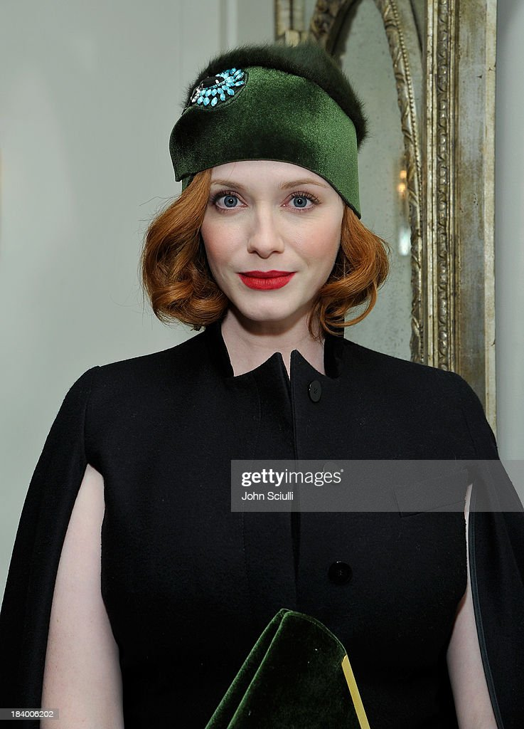 Actress <a gi-track='captionPersonalityLinkClicked' href=/galleries/search?phrase=Christina+Hendricks&family=editorial&specificpeople=2239736 ng-click='$event.stopPropagation()'>Christina Hendricks</a> attends a Tracy Paul dinner for Uno de 50 at Cecconi's Restaurant on October 10, 2013 in Los Angeles, California.