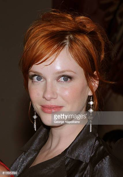 Actress Christina Hendricks attends AMC's private preview screening of 'Mad Men Season 2' on June 16 2008 at Museum of Modern Art in New York