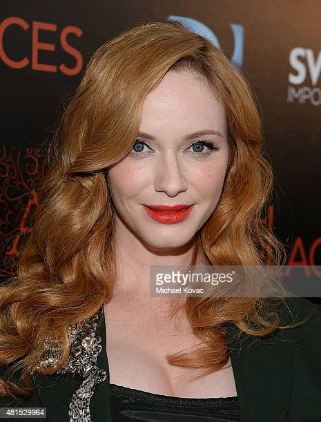 Actress Christina Hendricks attends Apothic Wines and SVEDKA Vodka Present The Los Angeles Premiere Of A24 And DIRECTV's 'DARK PLACES' at Harmony...