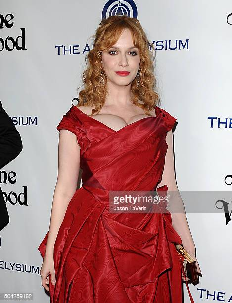 Actress Christina Hendricks attends Art of Elysium's 9th annual Heaven Gala at 3LABS on January 9 2016 in Culver City California