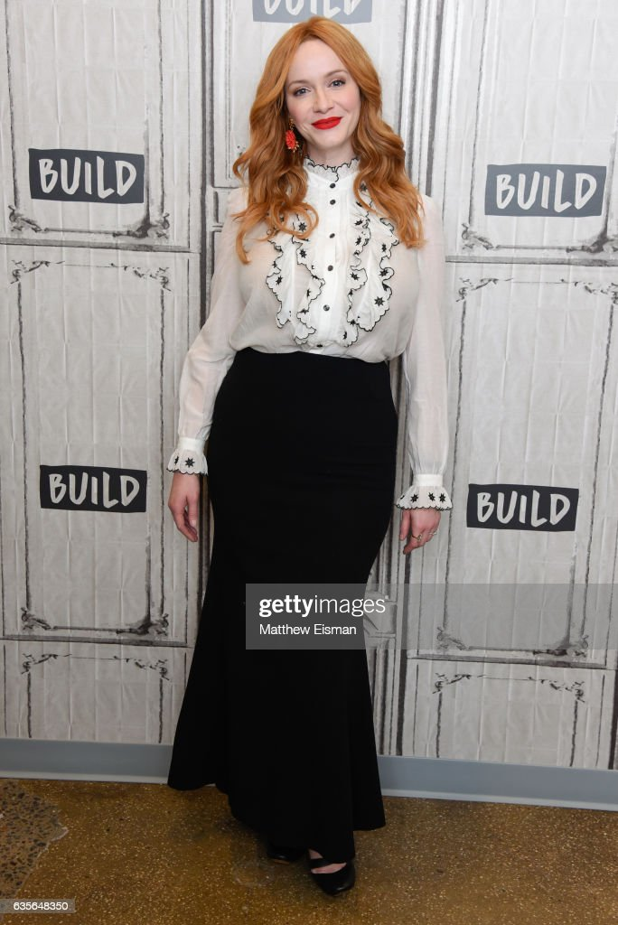 Actress Christina Hendricks attends Build Series presents Charlie Day and Christina Hendricks discussing 'Fist Fight' at Build Studio on February 16, 2017 in New York City.