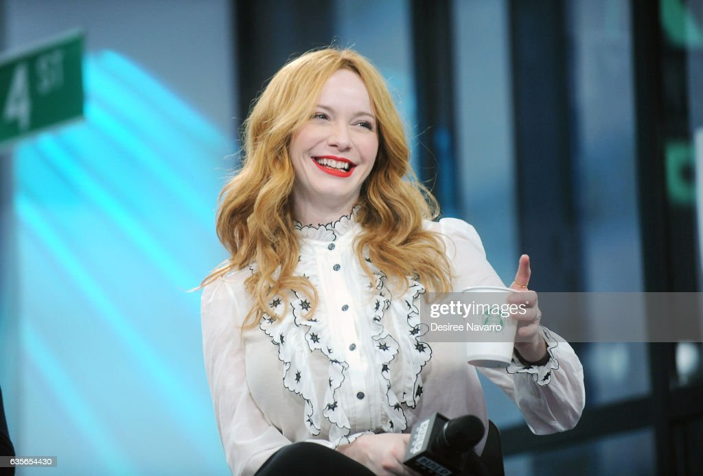 Actress Christina Hendricks attends Build Series to discuss 'Fist Fight' at Build Studio on February 16, 2017 in New York City.