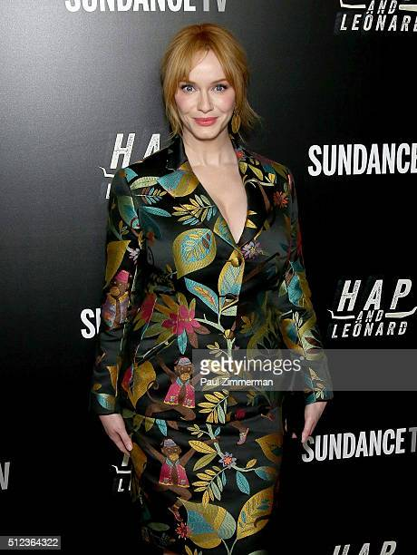 Actress Christina Hendricks attends 'Hap And Leonard' Private Premiere Party at Hill Country BBQ on February 25 2016 in New York City