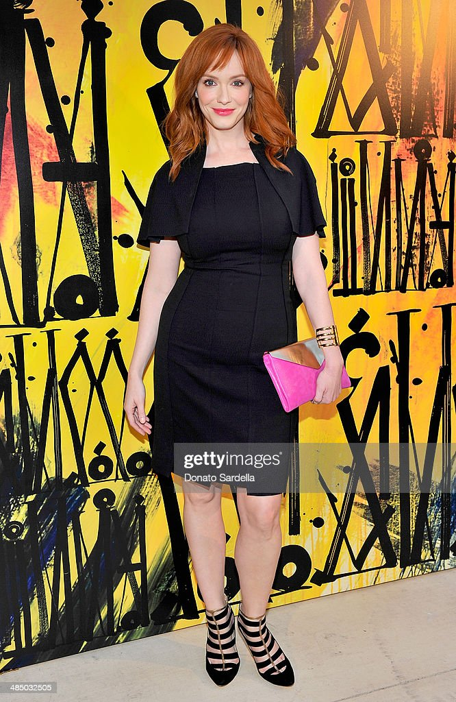 Actress <a gi-track='captionPersonalityLinkClicked' href=/galleries/search?phrase=Christina+Hendricks&family=editorial&specificpeople=2239736 ng-click='$event.stopPropagation()'>Christina Hendricks</a> attends Launch Of CHOO.08 hosted by Jimmy Choo's Sandra Choi on April 15, 2014 in Beverly Hills, California.