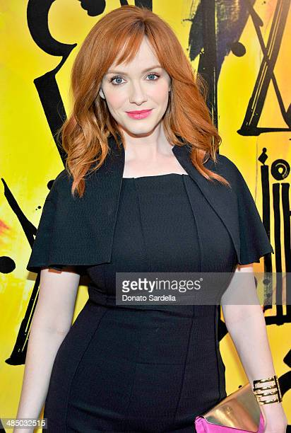 Actress Christina Hendricks attends Launch Of CHOO08 hosted by Jimmy Choo's Sandra Choi on April 15 2014 in Beverly Hills California