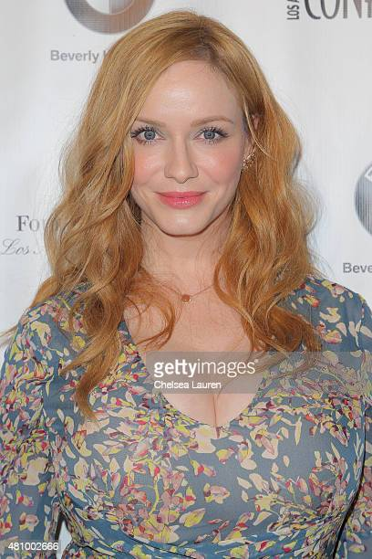 Actress Christina Hendricks attends Los Angeles Confidential Women Of Influence Celebration hosted by Christina Hendricks on July 16 2015 in Los...