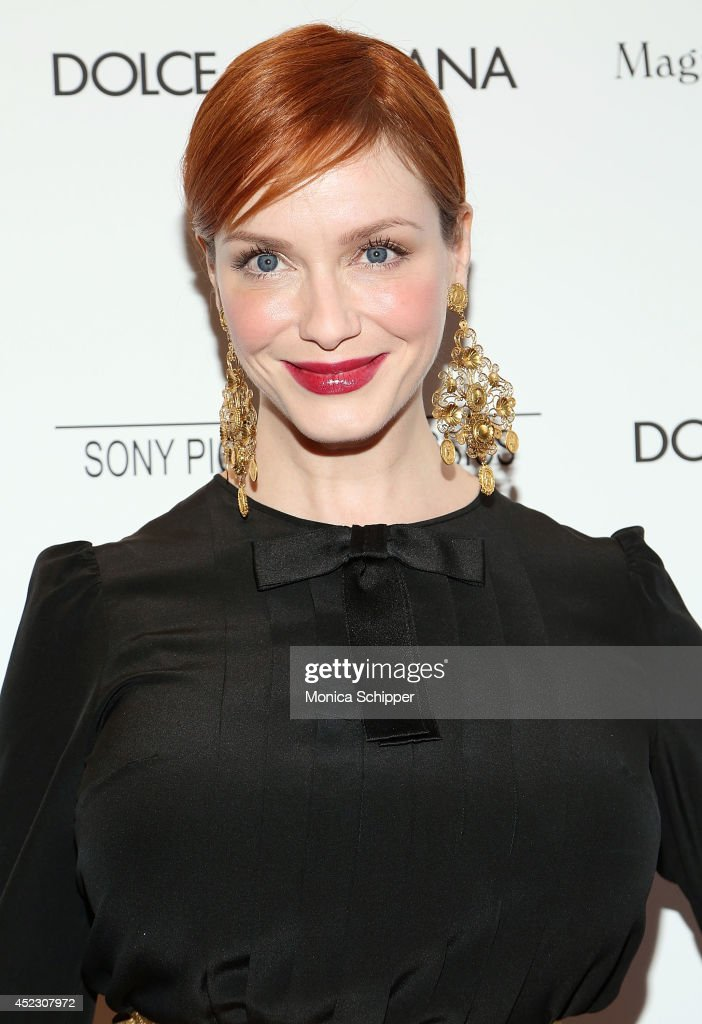 Actress <a gi-track='captionPersonalityLinkClicked' href=/galleries/search?phrase=Christina+Hendricks&family=editorial&specificpeople=2239736 ng-click='$event.stopPropagation()'>Christina Hendricks</a> attends 'Magic In The Moonlight' premiere at Paris Theater on July 17, 2014 in New York City.