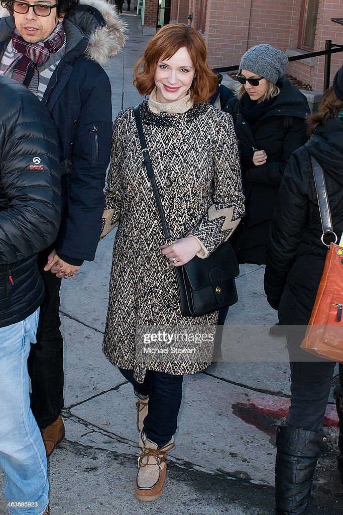 Actress <a gi-track='captionPersonalityLinkClicked' href=/galleries/search?phrase=Christina+Hendricks&family=editorial&specificpeople=2239736 ng-click='$event.stopPropagation()'>Christina Hendricks</a> attends Oakley Learn To Ride With AOL at Sundance on January 18, 2014 in Park City, Utah.